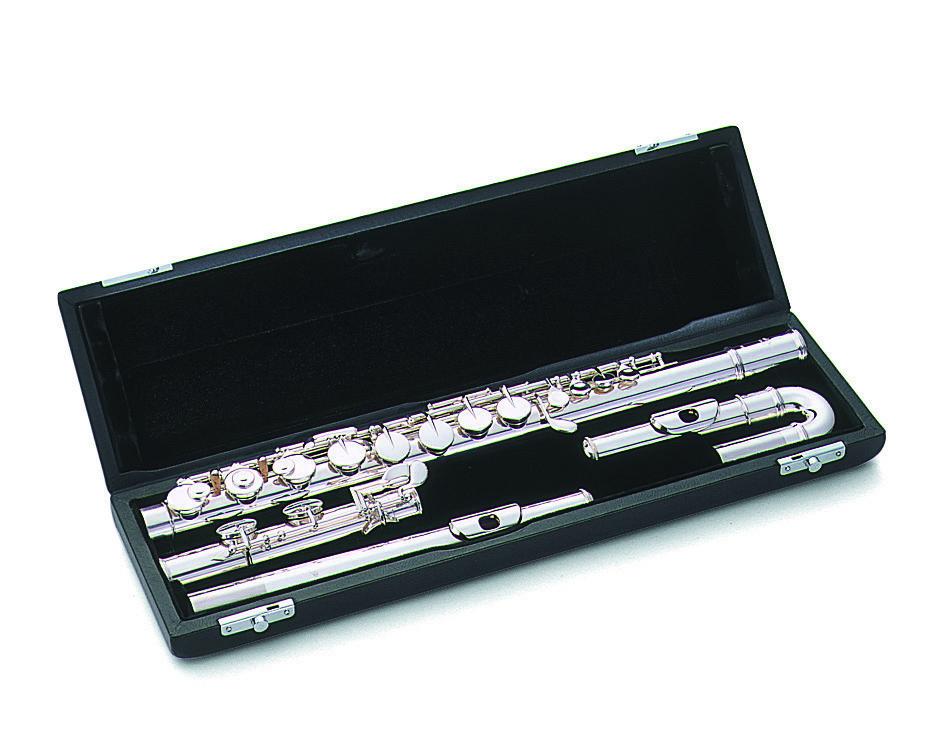 Alto Flüt Pearl 206ESU gümüş ağızlık, e-mek., düz ve kıvrık ağızlıklı