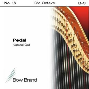 Arp Tel Bow Brand bağırsak 3. Oktav B pedal