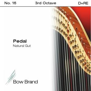 Arp Tel Bow Brand bağırsak 3. Oktav D pedal