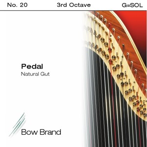 Arp Tel Bow Brand bağırsak 3. Oktav G pedal
