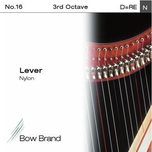 Arp Tel Bow Brand naylon 3. Oktav D Lever
