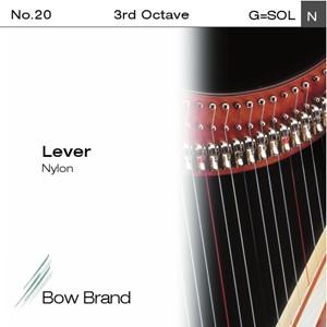 Arp Tel Bow Brand naylon 3. Oktav G Lever