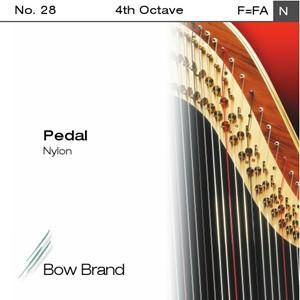 Arp Tel Bow Brand naylon 4. Oktav F pedal