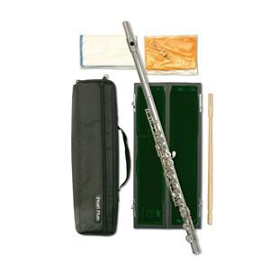 Flüt Pearl Quantz 505E gümüş kaplama, kapalı perde, e-mek