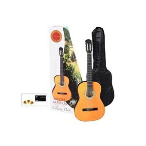 Gitar Gewapure Almeria Klasik 4/4 kılıf, tuner ve 3 adet pena dahil set