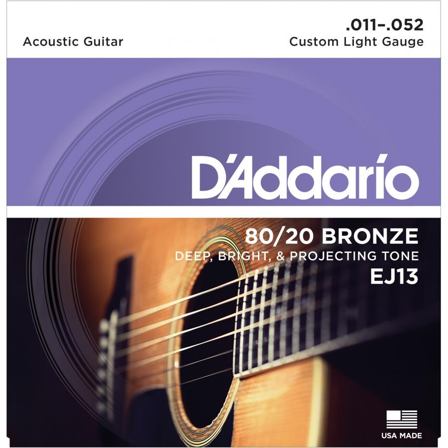 Gitar Tel D'addario Bronze Custom Light EJ13 Set Akustik 0.11