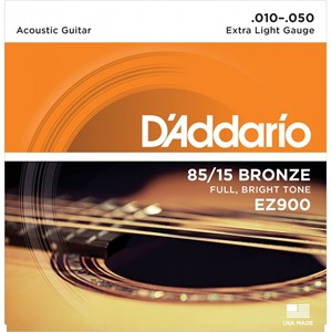 Gitar Tel D'addario Super Light 010 Set Akustik