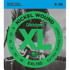 Gitar Tel D'addario XL Extra Super Light 08 Set Elektro