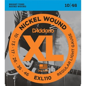 Gitar Tel D'addario XL Regular 10 Set Elektro