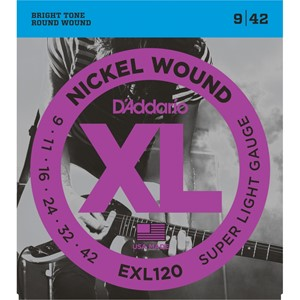 Gitar Tel D'addario XL Super Light 09 Set Elektro