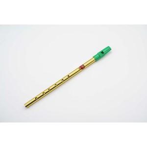 İrlanda Flütü - Generation D (Re) Brass Folk Whistle pirinç yeşil ağızlık