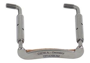 Keman Çenelik ayağı Gewa Titanium 27mm beyaz