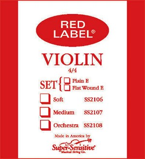 Keman Tel Super Sensitive Red Label Set 1/4