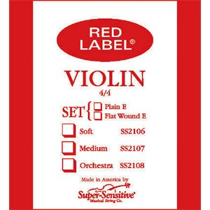 Keman Tel Super Sensitive Red Label Set 1/4