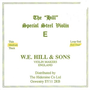 Keman Tel W.E. Hill & Sons Hill E-ball