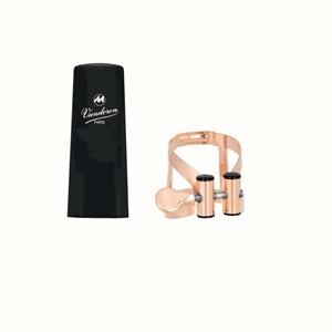 Klarnet Ligatür&kapak Vandoren M/O pink gold plastik kapaklı Bas