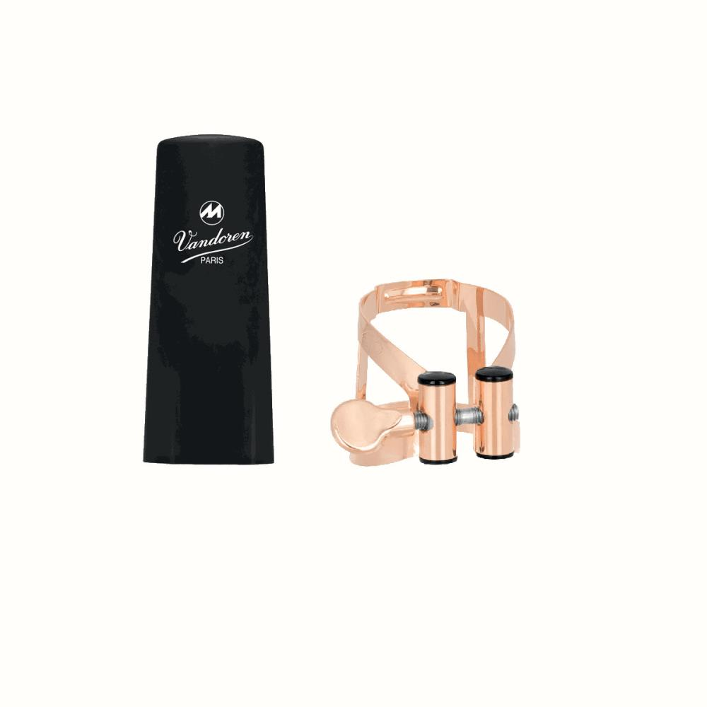 Klarnet Ligatür&kapak Vandoren M/O pink gold plastik kapaklı Bb