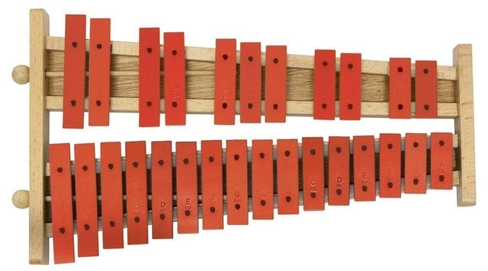 Metalofon Gewa G27 kromatik kırmızı