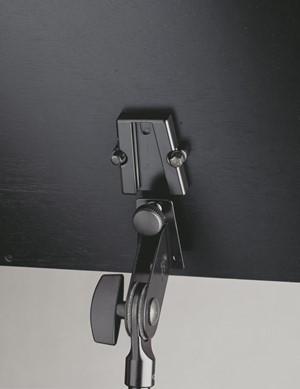Nota Sehpası K&M 118/4 nikel - siyah ahşap tablalı