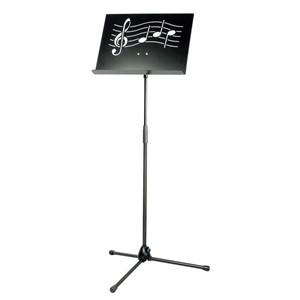 Nota sehpası K&M 11865 Symphony siyah - çelik -Nota figürlü
