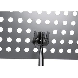 Nota Sehpası K&M 11899 siyah - delikli aluminyum tablalı