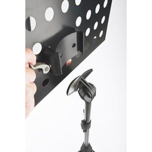 Nota sehpası K&M 11940 siyah - delikli aluminyum tablalı