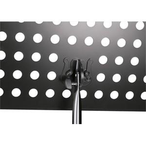 Nota sehpası K&M 12179 siyah - delikli çelik tablalı