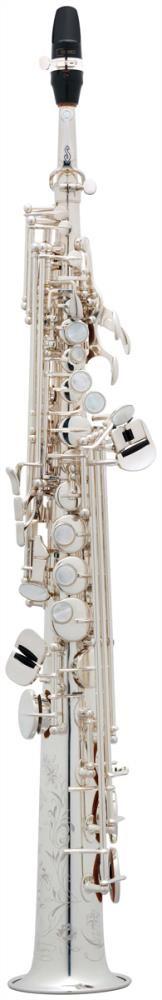 Saksofon Selmer-Paris Super Action 80 III Gümüş kaplama & gravürlü w/case&mpc Soprano