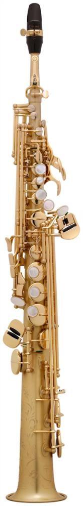 Saksofon Selmer-Paris Super Action 80 III Mat-fırçalanmış görünümlü w/case&mpc Soprano