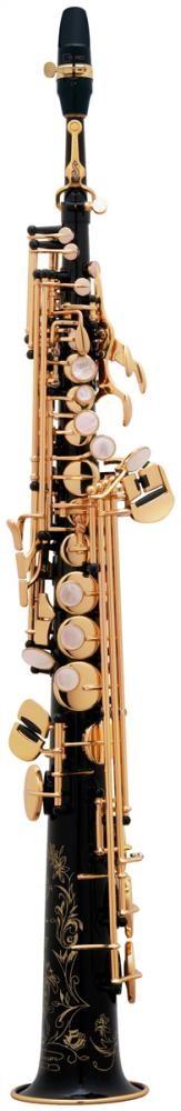 Saksofon Selmer-Paris Super Action 80 III Siyah & gravürlü w/case&mpc Soprano