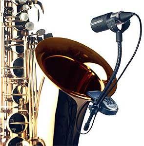 Saksofon/Trompet/Trombon/Tuba Mikrofon SD Systems SDS Modular ve MD-94 mandallı