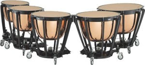 Timpani Adams Professional Copper Cambered Hammered 5'li set