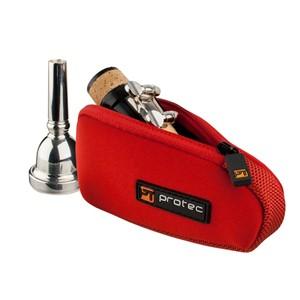 Trombon/Alto Saksofon ağızlık kılıfı Protec Neoprene kırmızı