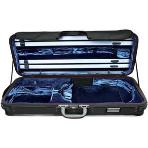 Viyola Kutu Gewa Strato Super Light Weight de luxe 2.7kg Siyah-Mavi