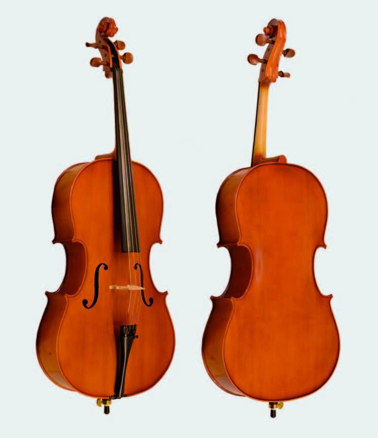 Viyolonsel Johanse Model 134 Set I Bernstein 4/4 masif ağaç, abanoz tuş, şimşir kulaklar, orijinal f