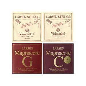 Viyolonsel Tel Larsen Solo A&D-Magnacore G&C set strong