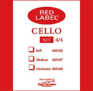 Viyolonsel Tel Super Sensitive Red Label A 1/2