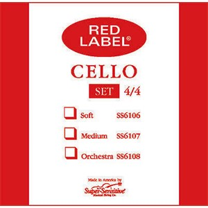 Viyolonsel Tel Super Sensitive Red Label C 1/2